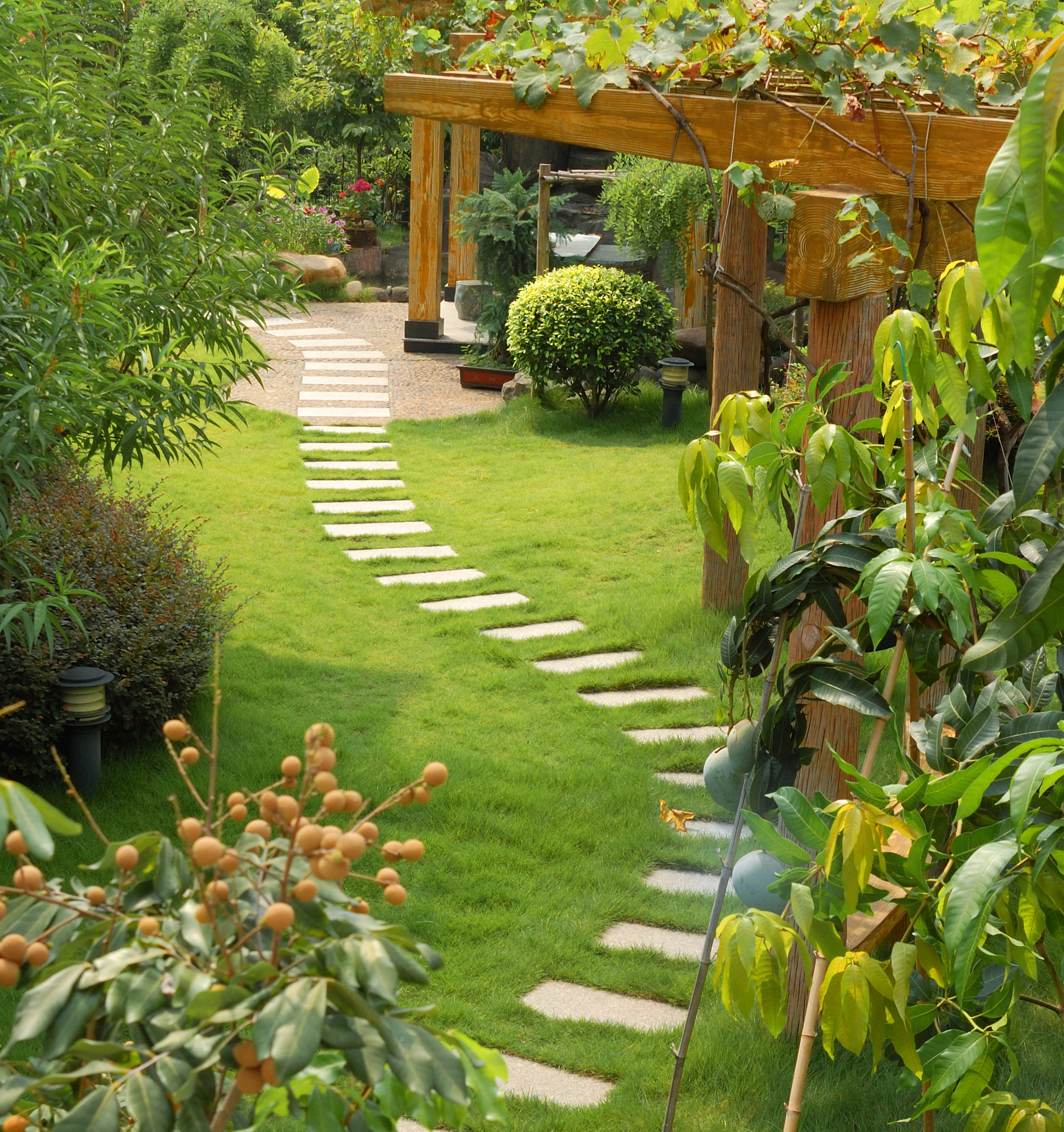 House Backyard Landscape : Garden Landscaping in Halifax, Huddersfield, West Yorkshire  RS
